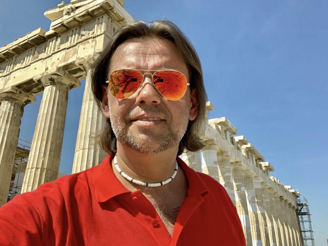 Arkadiusz Nowak pod Akropolem - Grecja